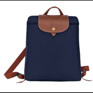 Longchamp Le Pliage backpack. Navy